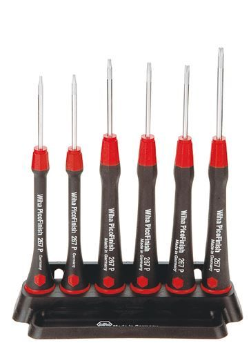 Wiha 6pc Micro Precision Screwdriver Set Torx TX Electronic PicoFinish T4 T5 T6