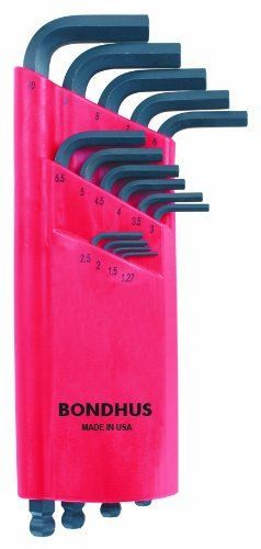 Bondhus ProGuard Ballpoint Long Metric Hex Allen Key Set 15 Ball End Hexagon 10995