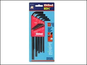 "Eklind Hex Allen Key Long Arm Set of 13 Imperial AF 1/16"" - 3/8"" REK10213"