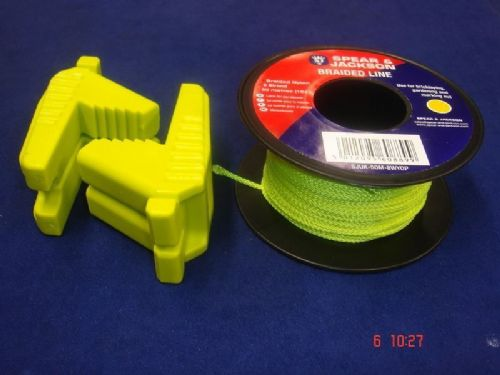 Spear /& Jackson Green Braided Nylon Bricklayers Line 2 x 50 Metre Spools UK50M8G