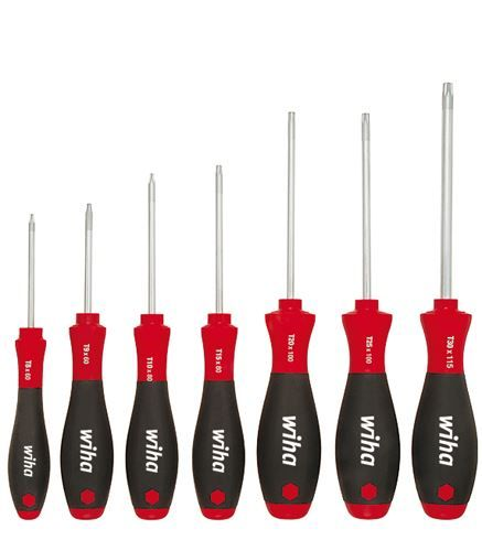 Wiha 7pc Torx TX Screwdriver Set Soft Finish T8 T9 T10 T15 T20 T25 T30